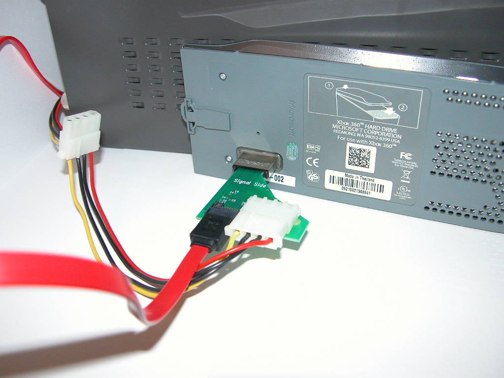 Xbox 360 hard drive to SATA adapter